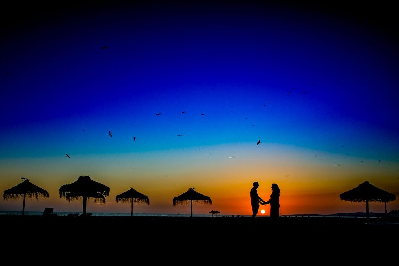 Bruidsfotograaf in het buitenland Portugal sunset