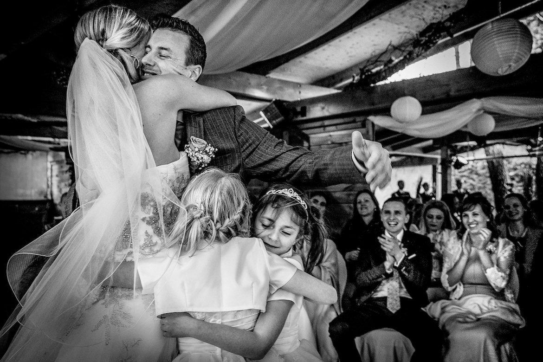 Bruidsfotografie Arno de Bruijn fotograaf bruiloft, trouwceremonie moment van vreugde