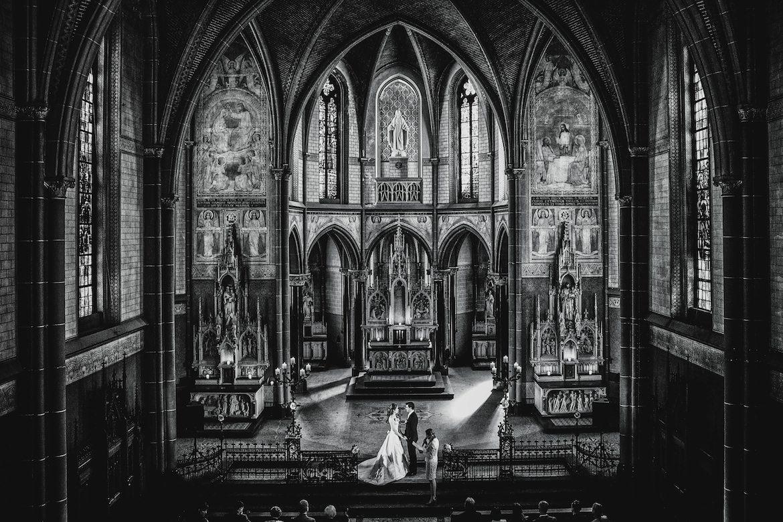 Bruidsfotografie Arno de Bruijn fotograaf bruiloft, trouwceremonie in de kerk