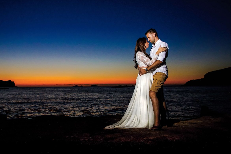 Ibiza sunset Destination Wedding Bruidsfotografie Arno de Bruijn fotograaf bruiloft