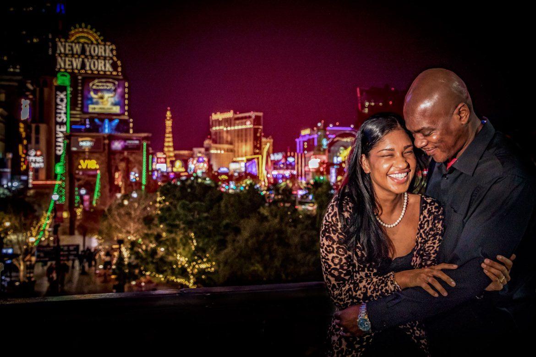 Bruidsfotograaf in het buitenland Las Vegas Neon