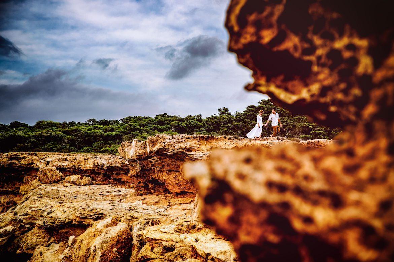 Trouwen in het buitenland trouwreportage Ibiza strand sunset